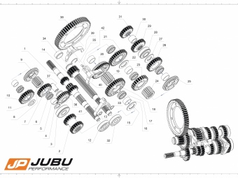 6 Gang Dog Gearbox Kit JUBU
